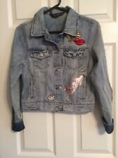 Girl's / Junior's Long Sleeve Blue Jean Jacket Size Medium by Vanilla Star