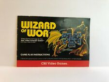 Wizard of Wor CBS Atari Manual INSERT ONLY Authentic