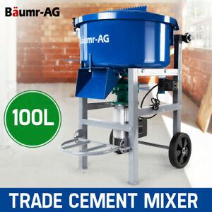 【EXTRA20%OFF】Baumr-AG 100L Concrete Mixer Mortar Electric Cement 1500W