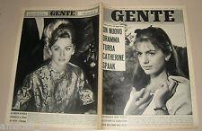 GENTE 1962/49=CATHERINE SPAAK=CAVAGLIA=GIOVANNI COMISSO=MICHELE CASCELLA=