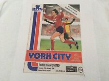 York City  v Rotherham United Freight Rover Trophy January 1986