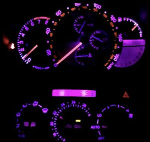 Pink / Purple Cluster Led/ Climate Control Bulb Kit for Lexus IS300 2001-2005