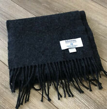 Johnstons Scarf Merino Wool Cashmere Gray Made In Scotland