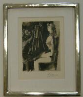Farblithografie von Picasso. Das Blatt ist handsigniert.