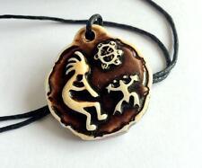 Kokopelli Taino Necklace Bone Powder Island Zen Beach Surfer Jewelry