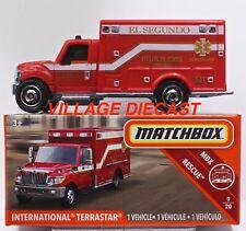 2019 Matchbox Power Grabs #41 International® Terrastar® RED / EL SEGUNDO / MIB