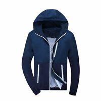 Men Waterproof Windbreaker Jacket Hooded Light Fashion Outwear Slim Casual Coat
