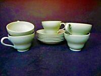 Wedgwood Celadon set of 5 - 4 oz Coffee / Tea Cups and Saucers