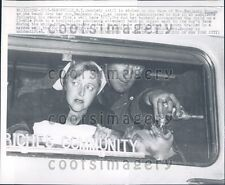1957 Hooper Family in Ambulance Son Rescued From Well Manorville NY Press Photo