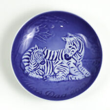 Bing & Grondahl 2013 Mother's Day Collectors Plate, Mors Dag, Zebra with Foal