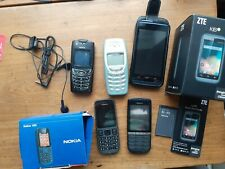 Old Vintage Nokia and ZTE mobile phones