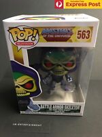 MASTERS OF THE UNIVERSE MOTU SKELETOR BATTLE ARMOR (METALLIC) POP VINYL #563 NEW