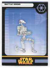 2005 Star Wars Miniatures Battle Droid D Stat Card Only Swm Mini