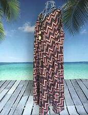 Plus Size Maxi Dress | red black white chevron print | cotton | Holley Day