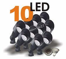 10 LED Landscape Yard Spot Light Black Cast Aluminum MR16 12V Low Voltage