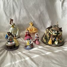 Disney Beauty & the Beast MEMORABILIA Figurine Ornament Snowglobe Music Box 7 Pc