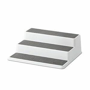 Copco 2 Non-Skid 3-Tier Spice Pantry Kitchen Cabinet Organizer 10-In White/Gray