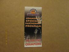 Cba Yakima Sun Kings Vintage Defunct 2008 We Are The Champions Brochure