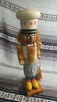 Vintage Nutcracker Figure Christmas German? Old BAKER Bakery themed