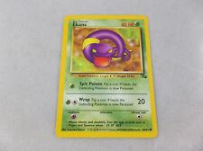 Ekans Pokemon 1999 Basic Grass Type Pokemon Trading Card 46/62