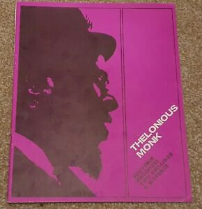 Thelonious Monk Concert Programme circa 1966 with Charlie Rouse