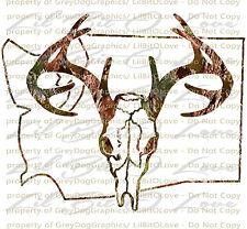 Camouflage Camo Washington Buck Hunter Hunting Vinyl Decal Sticker Deer Stag