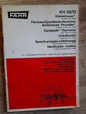 Original Ersatzteilliste Deutz KH 20/D Kreiselheuer