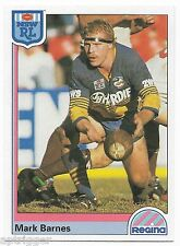 1992 NSW Rugby League REGINA Base Card (44) Mark BARNES Pararmatta Eels