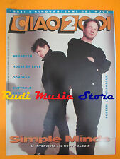 rivista CIAO 2001 12/1991 POSTER Living Colour Simple Minds Megadeth * No cd