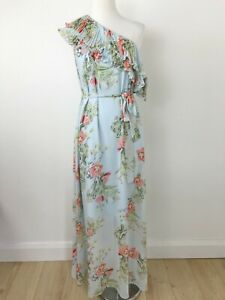 Cooper St Women's Dress Size 8 Blooming Floral One Shoulder Ruffle Maxi Gorgeous