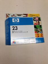 HP 23 Tri-color Ink Cartridge C1823T Twin Pack Genuine January 2006