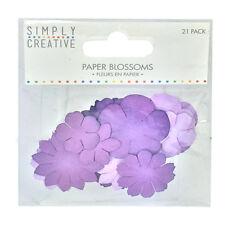 Dovecraft Simply Creative Paper Blossoms- Purple 21pcs