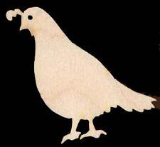 Quail Bobwhite Bird Unfinished Craft Wood #1247-3.125