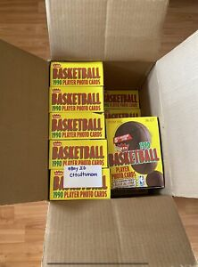 1990-91 FLEER BASKETBALL UNOPENED WAX BOX From FACTORY SEALED CASE 36 PACKS