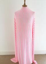 Neon Pink Striped Viscose/lycra Jersey Dressmaking Fabric--Great Quality