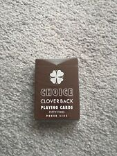 Choice Cloverback Playing Cards Limited Edition Brown Playing Cards Penguin...