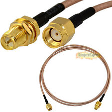 3ft 1m RF Coaxial Pigtail Cable RG316 RP-SMA Female Nut Blukhead to RP SMA Male