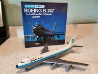 Schabak 1:250 scale diecast model AIRPLANE PAN AM BOEING 747 Commercial Airliner