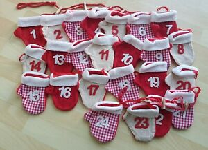 Brand New Large FABRIC MITTENS FILL YOUR OWN ADVENT CALENDAR