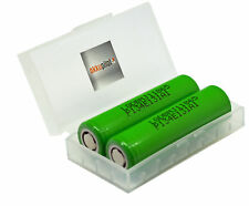 2er PREMIUM SET LG 18650 MJ1 Akku 3,7V 3500mAh 10A + Akku-Schutzbox