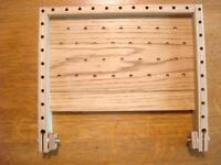 Fly tying platform for two people, a right-handed tyer and a left-handed tyer.