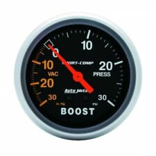 "Auto Meter 3403 2-5/8"" Sport-Comp Mechanical Boost/Vacuum Gauge, 30 IN HG/30 PSI"