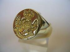 New 9ct Gold Men's INTELLIGENCE CORP Seal Style Signet Ring. Excellent Quality.