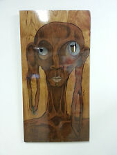 """I am You"" Original Art - Direct from Artist - Mixed Media on Cherry Wood"