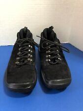 Prada Sport  Men's Black Suede Vibram Sole Lace Up Oxford Logo Stripe Size 38.5