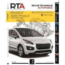 Livre Revue technique Peugeot 3008 PHASE 2 1.6 HDI - RTA 817
