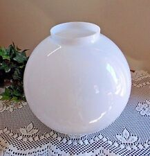 """Old Milk Glass Ball Parlor Banquet Lamp Shade GWTW Light Globe Antique 4"""" Fitter"""