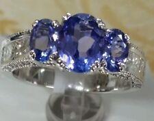 18k white gold gemstone fine ring 1.80ct AAA quality 1.00ct princess& rd diamond