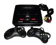 Sega Mega Drive 2 II CONSOLE a 16 bit KIT con 9 GIOCHI + 2 pad JOYPAD