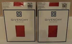 VTG Givenchy BODY GLEAMERS Control Top Pantyhose # 157 Size A Nouvelle Rouge Red